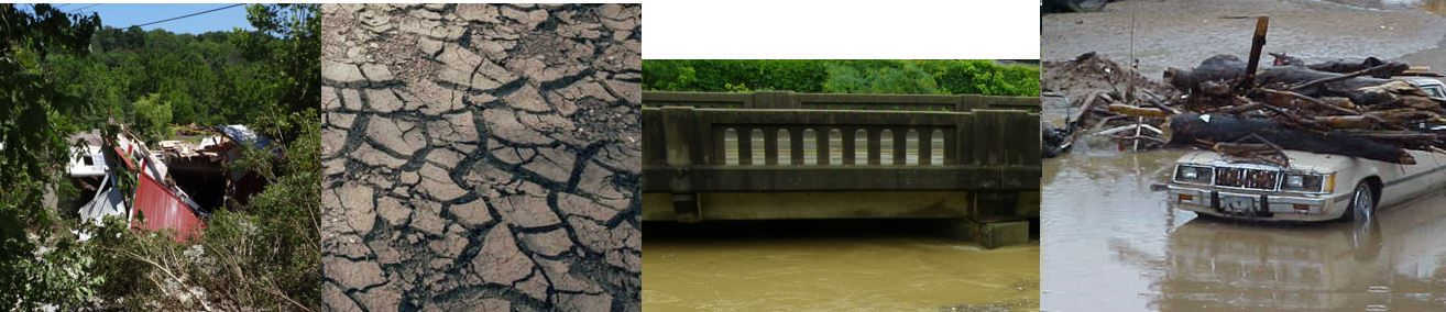 Compilation of flooding and drought pictures taken by DOW staff