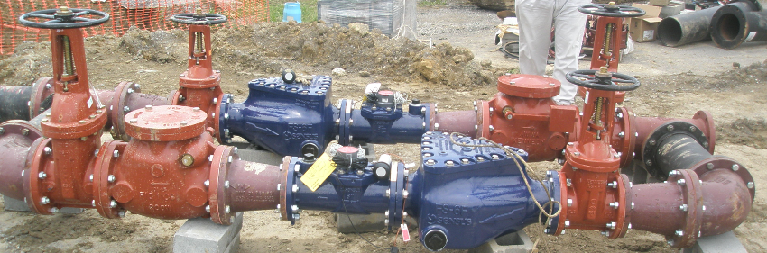 image of piping for water system treatment