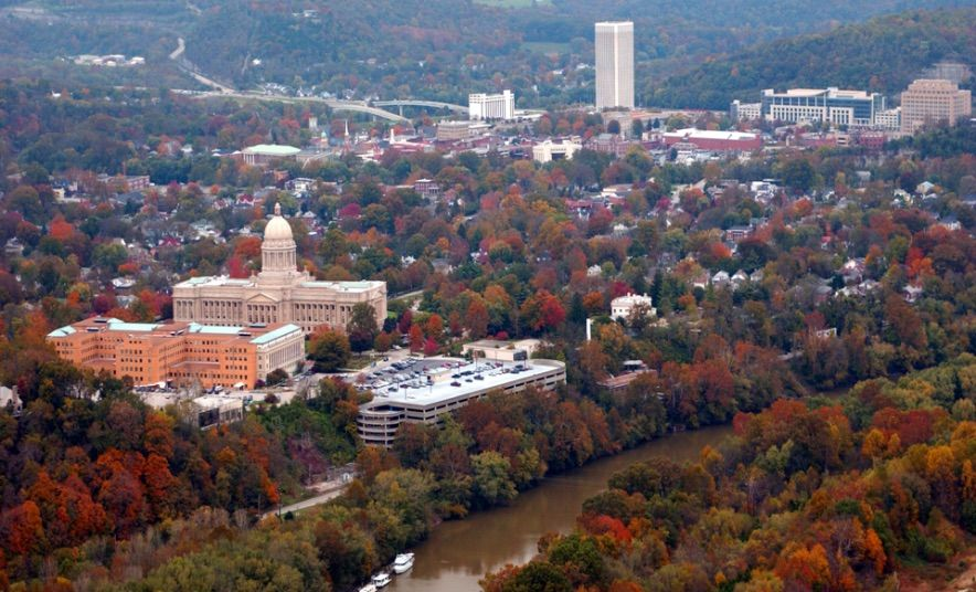 downtown Frankfort Ky during the fall