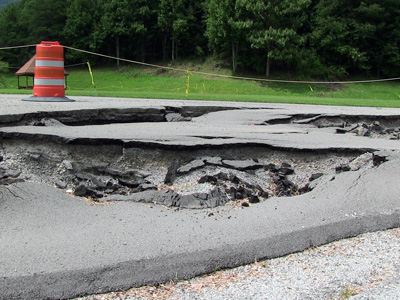 Road subsidence caused by mine drainage